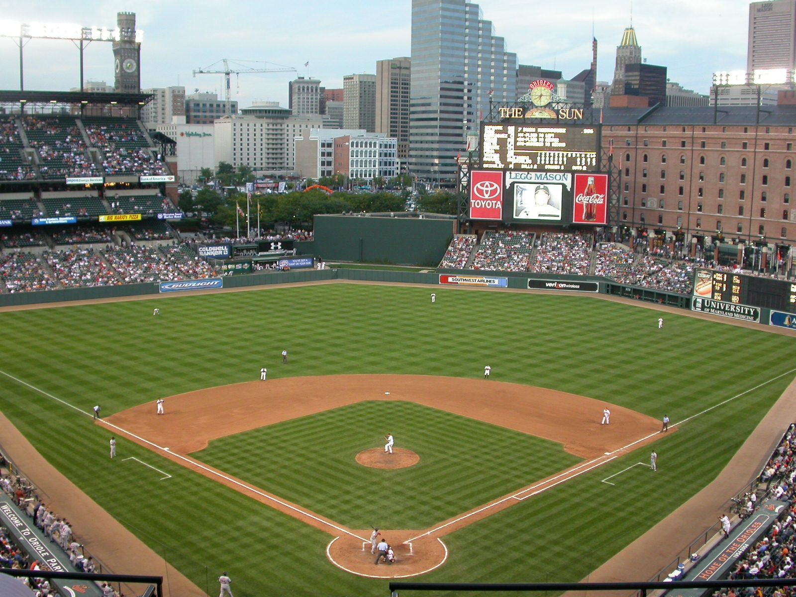 Camden Yards Baltimore Camden Yards Baseball Park Mlb Stadiums