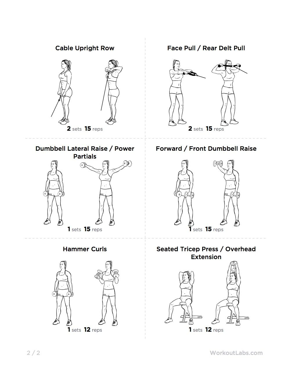printable sample shoulder workouts form