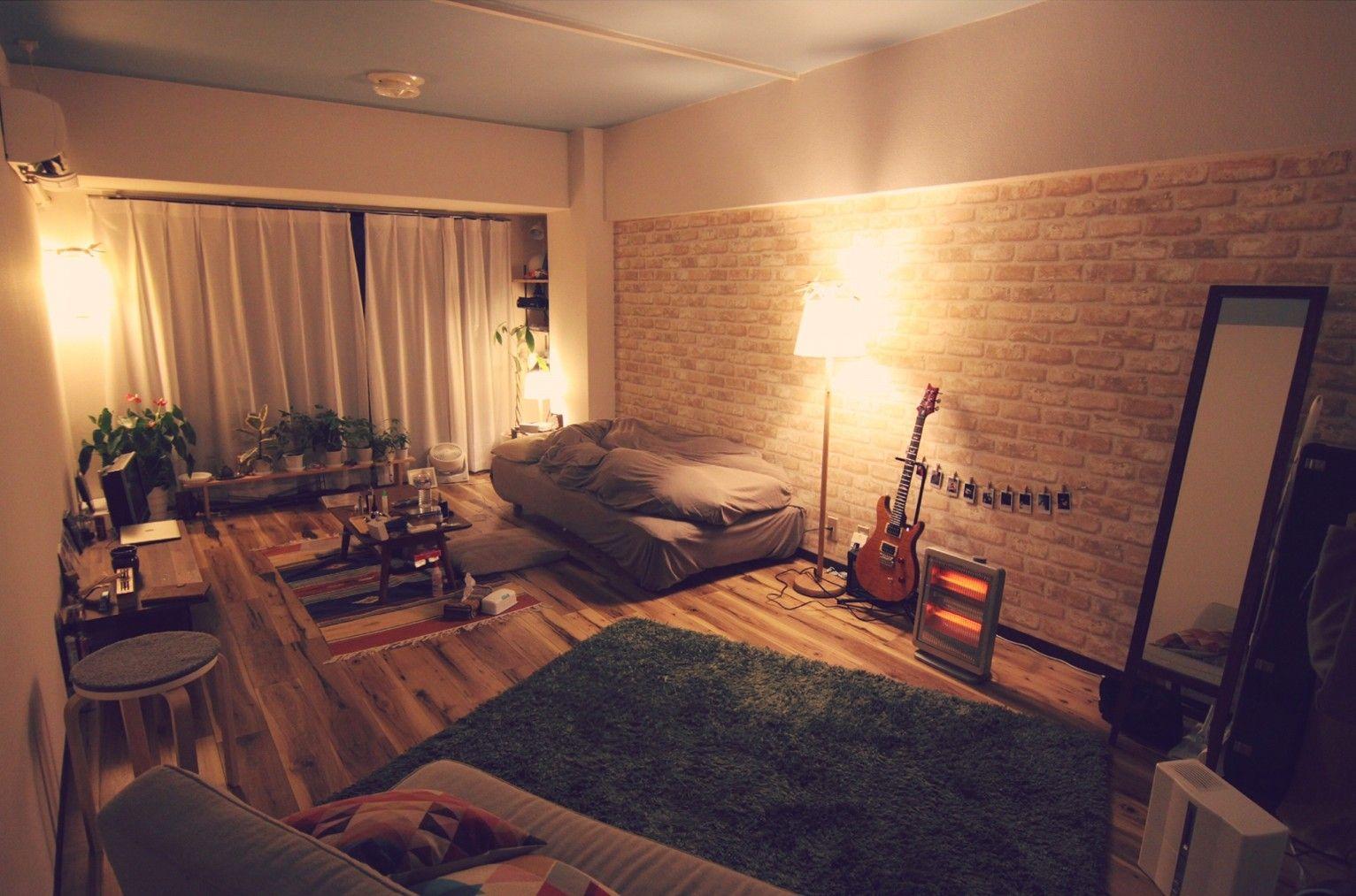 一人暮らしに役立つワンルームのインテリアコーディネート 10畳ワンルームで男のモダンインテリアコーディネート インテリアコーディネート 一人暮らし 部屋 インテリア ワンルーム インテリア