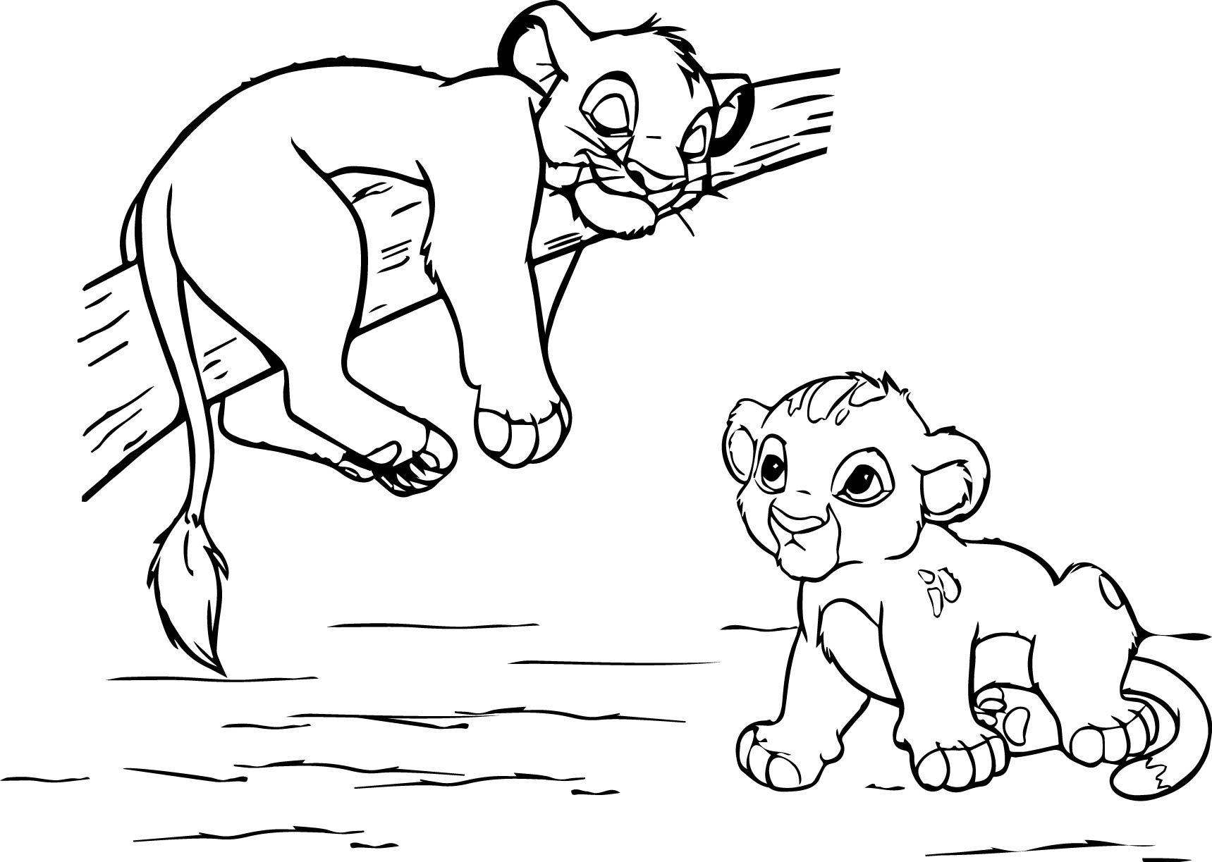 Awesome Lion King Coloring Page With Images