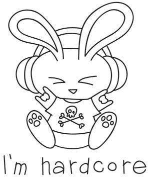 Hardcore Bunny design (UTH1164) from UrbanThreads.com 4.33