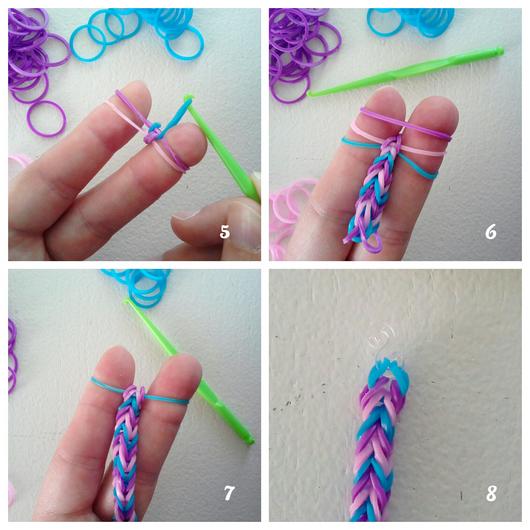 Modele bracelet elastique avec les doigts