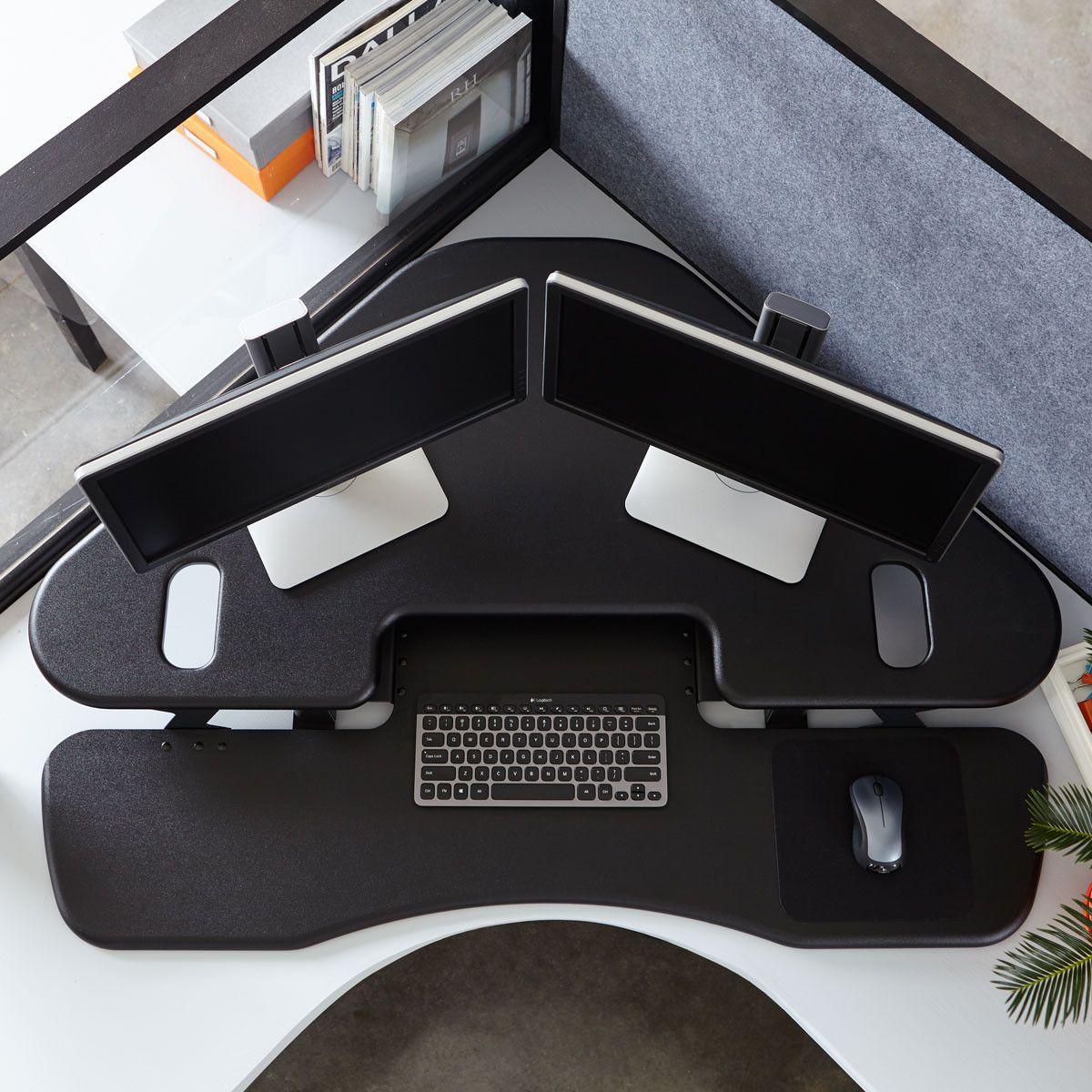 Varidesk exec 40 review varidesk pro desk 60 darkwood review workfit t - Standing Desk Varidesk Cube Corner