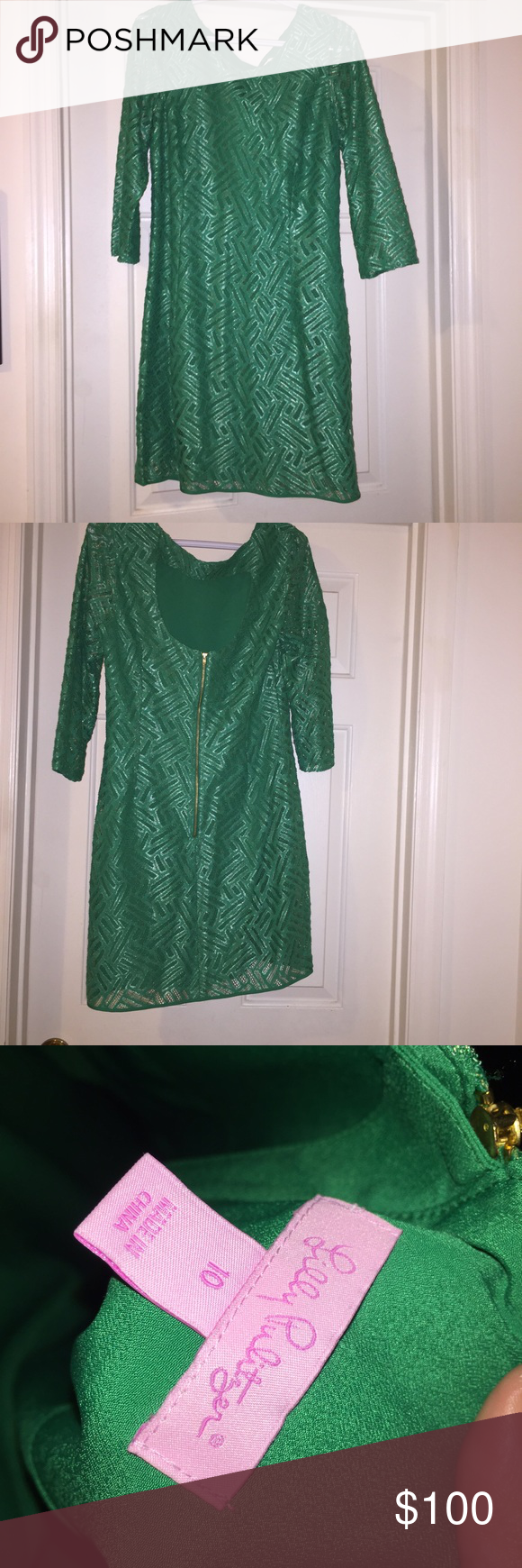 Lilly Pulitzer Camelia Metallic Lace Sheath Dress! Lilly Pulitzer Camelia Metallic Lace Sheath Dress! Worn Once, perfect Condition!! Lilly Pulitzer Dresses