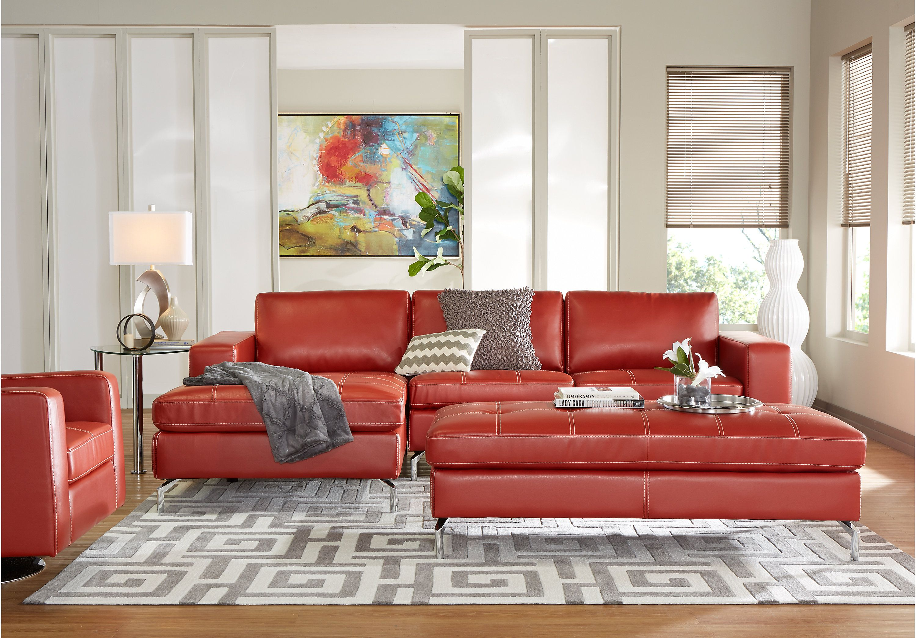 Brandon Heights Papaya 5 Pc Sectional Living Room  Living Room Entrancing Living Rooms Sets Design Ideas