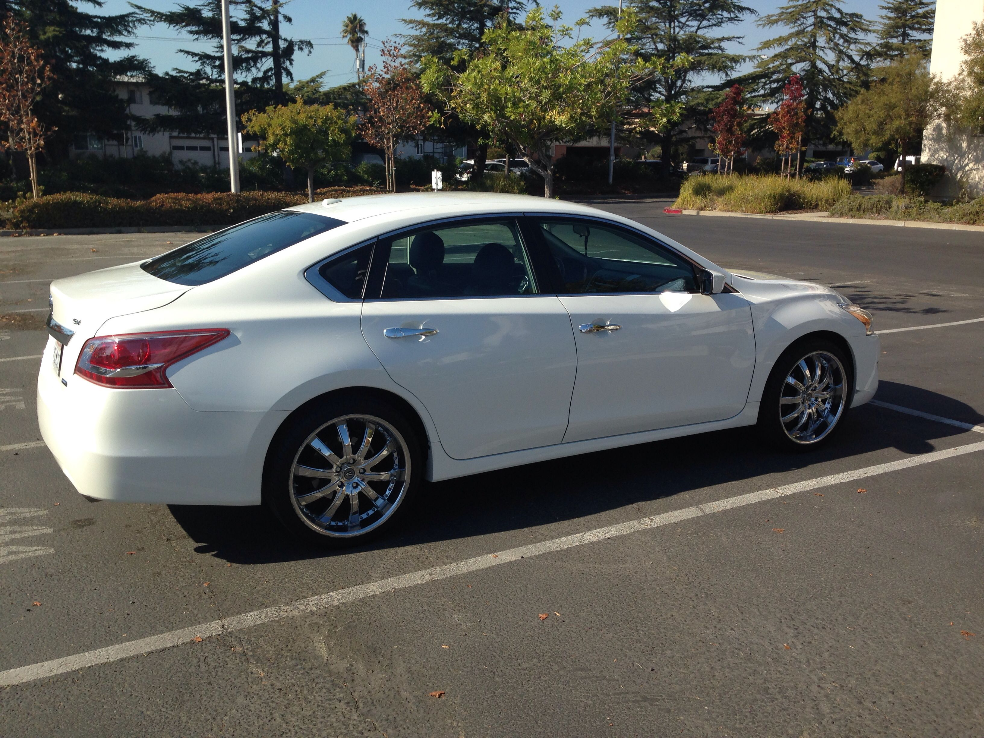 "2013 Nissan Altima on 20"" rims car Pinterest"