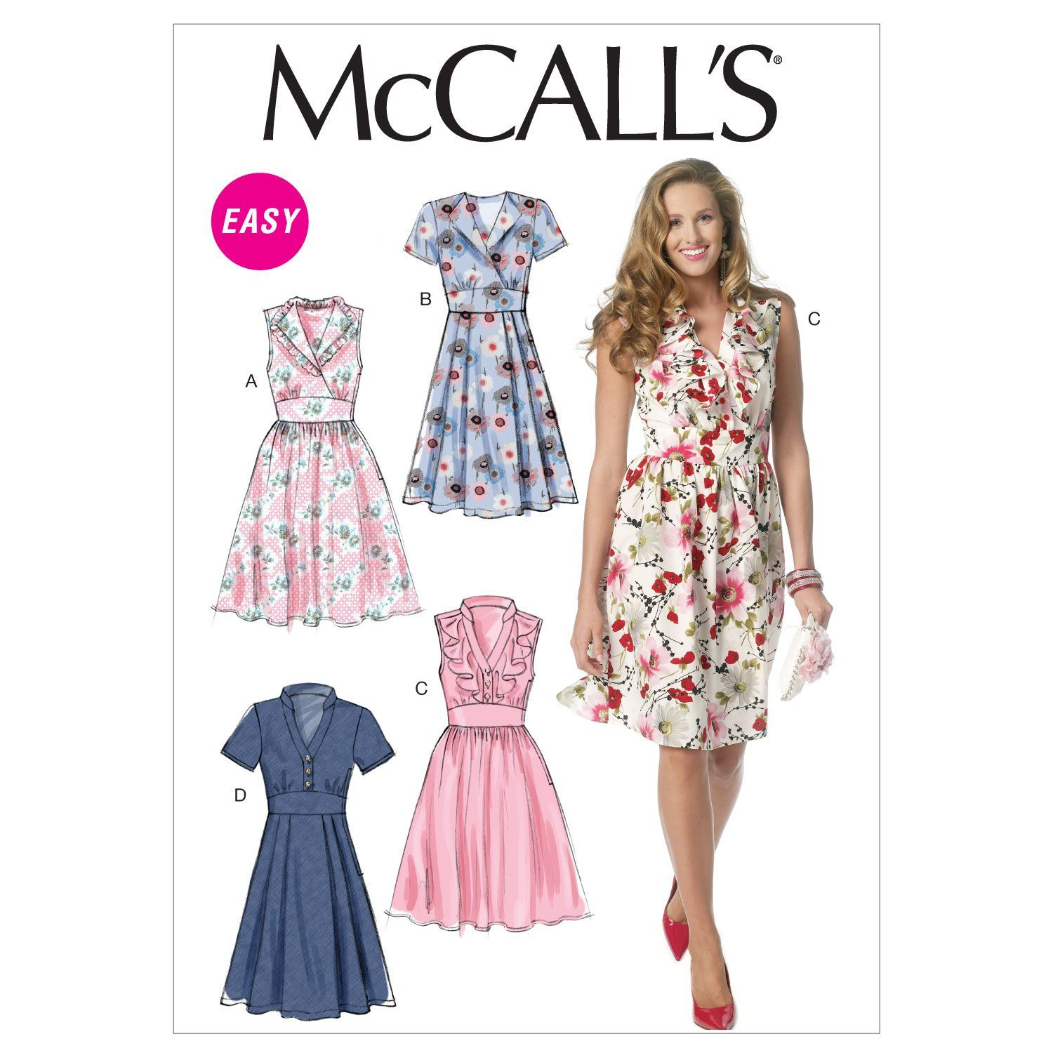 Mccalls sewing pattern 7745 Robes E5 14-16-18-20-22