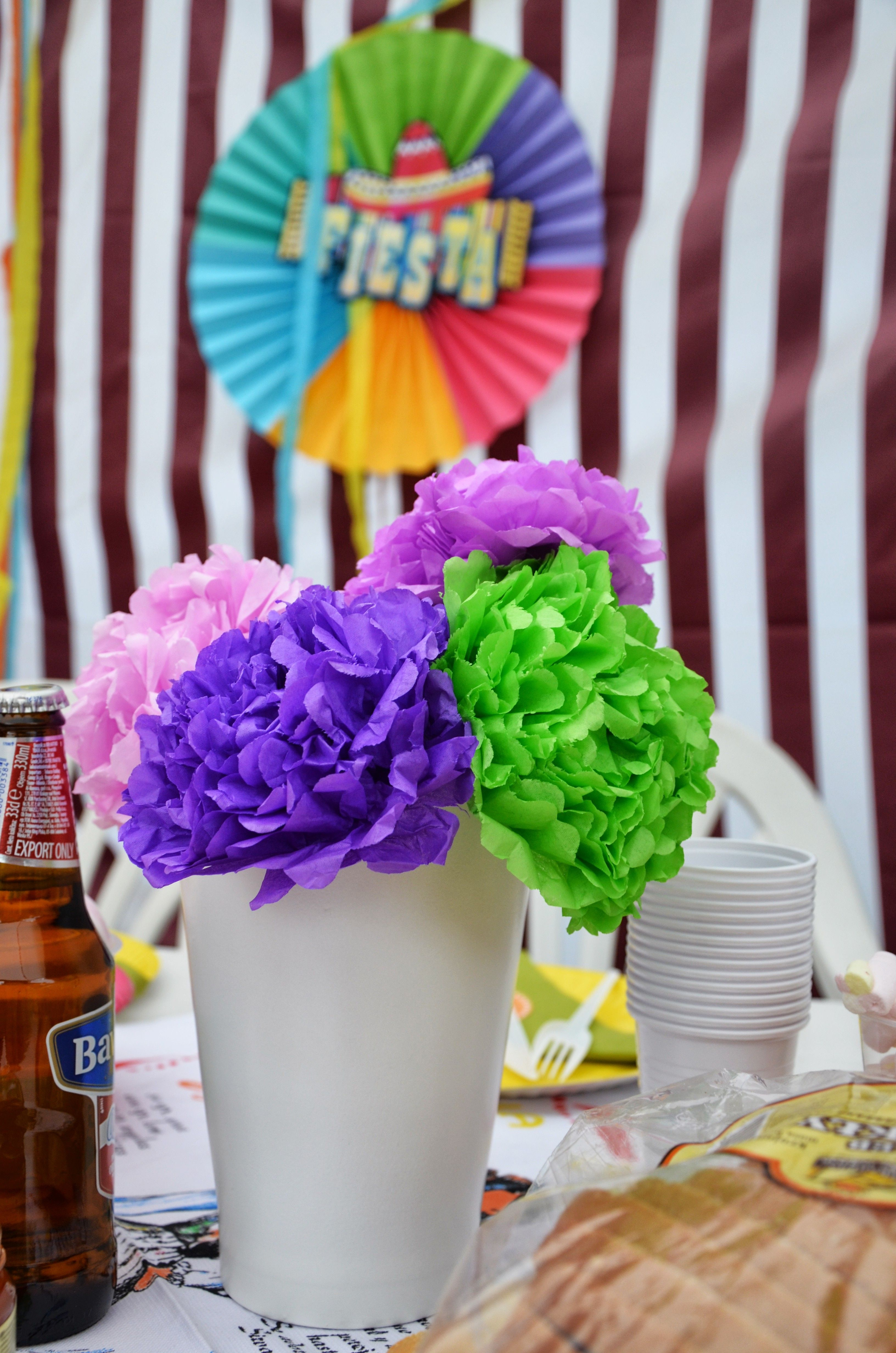 Mexican Dinner Party Decorating Ideas Part - 45: Mexico Party Decorations - Paper Flowers. Mexican Dinner ...