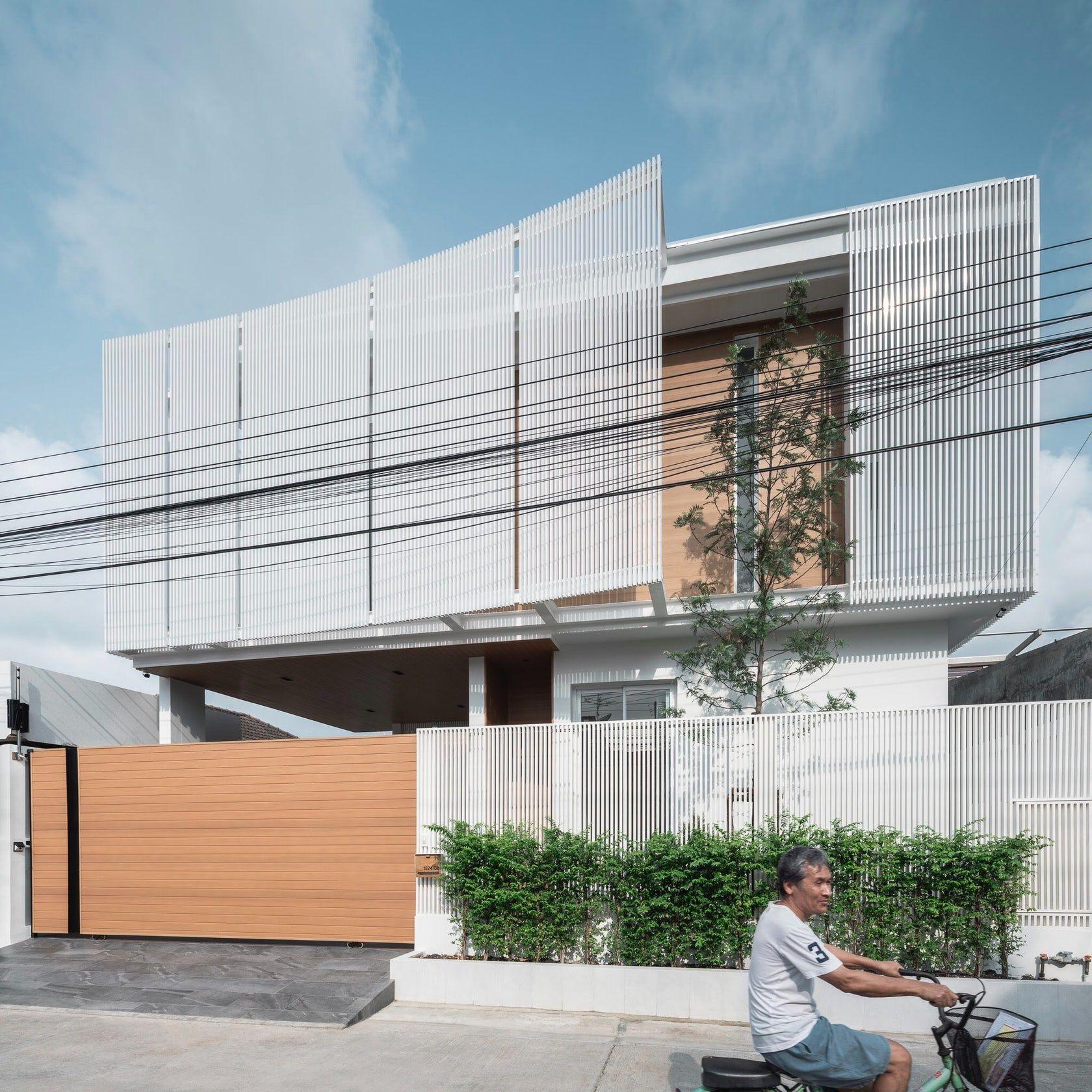 Architecture, Facade House Enfold Thepharak, Thailand. in