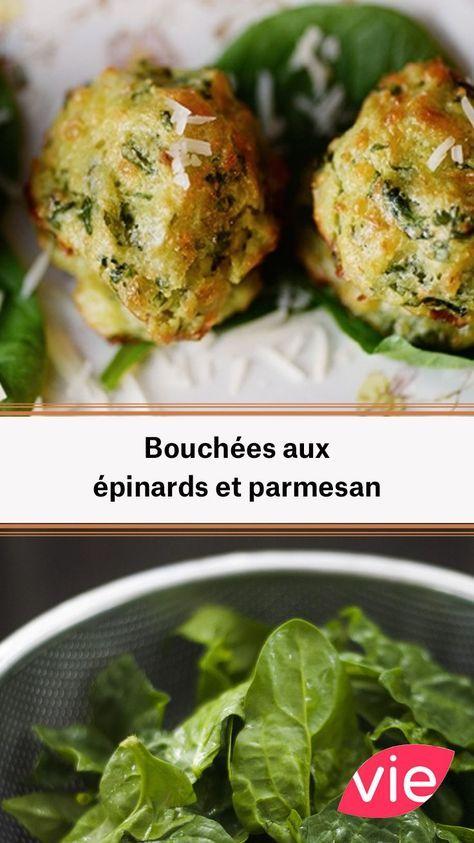 Bouchées épinards et parmesan
