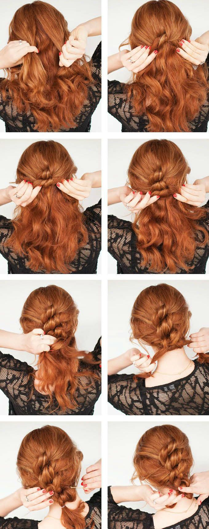 style for hair braiding hair easy knotted hairstyle click through for 5930