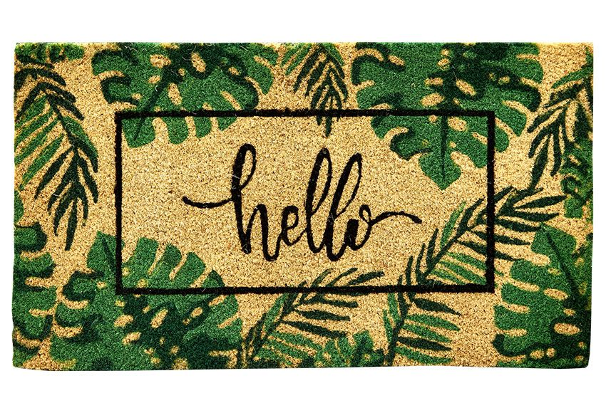 Felpudo De Coco Natural Hello Tropical Ref 81928477 Leroy Merlin Door Mat Diy Door Mat Coir Mat
