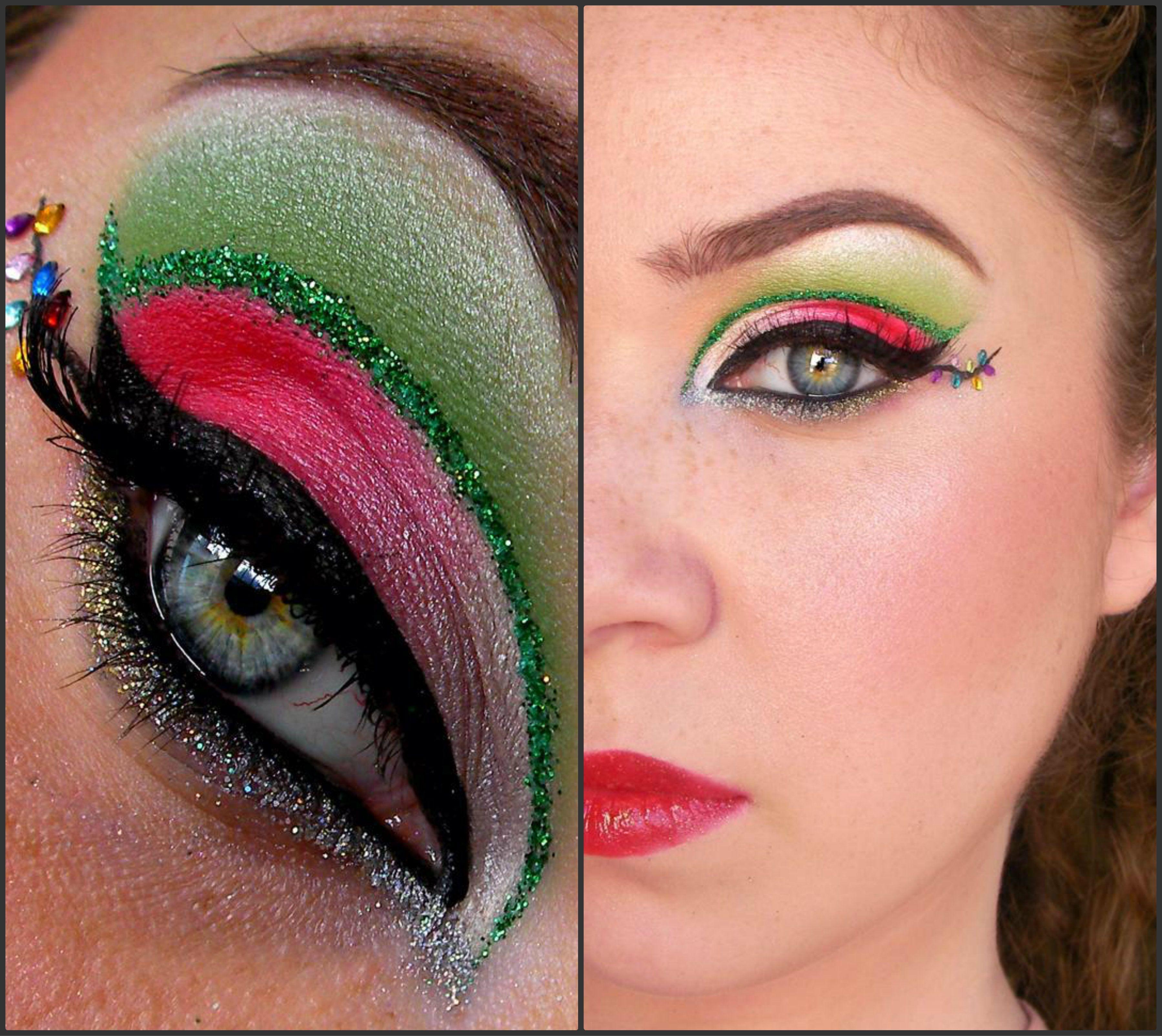 christmas eye makeup Christmas eye makeup, Christmas