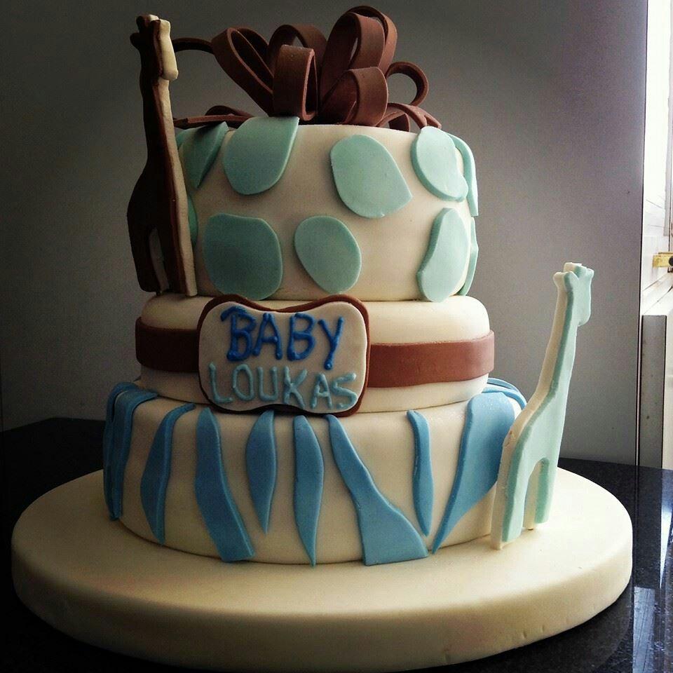 Baby shower cake made by us, The Flying Elephant Bakery. Visit our website www.theflyingelephantbakery.com
