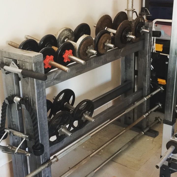 Finished my dumbbell rack training pinterest