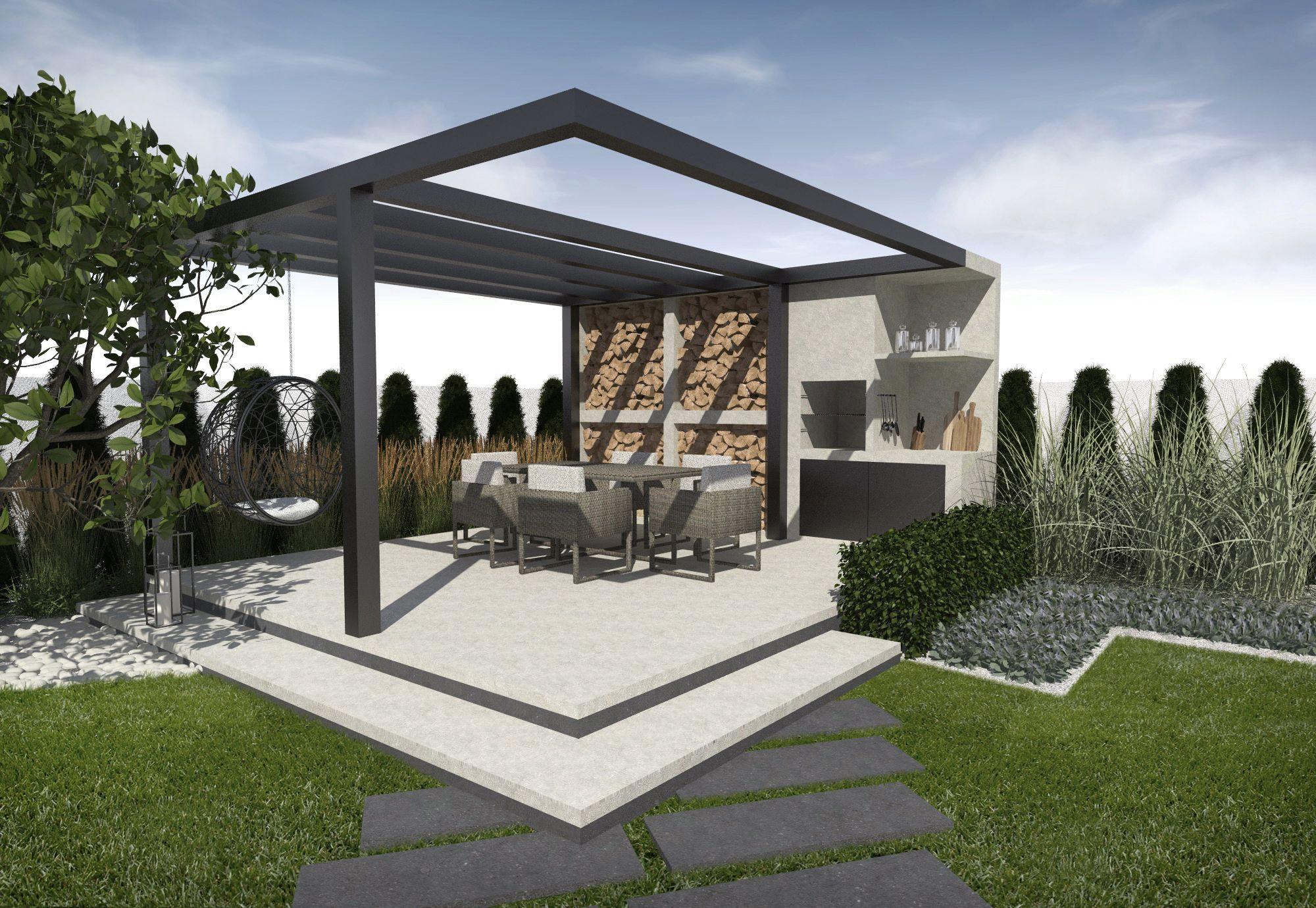 Projekt Nowoczesnej Altany Modern Gazebo Outdoor Decor Backyard Outdoor Canopy Gazebo