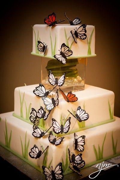 Butterfly Wedding Cake Butterfly Wedding ideas. Wedding ideas with butterflies. Butterflies at Wedding. Butterfly patterns