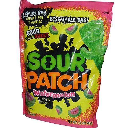 Watermelon Sour Patch Kids In A Large Resealable Bag Sour Patch Watermelon Sour Patch Kids Sour Patch