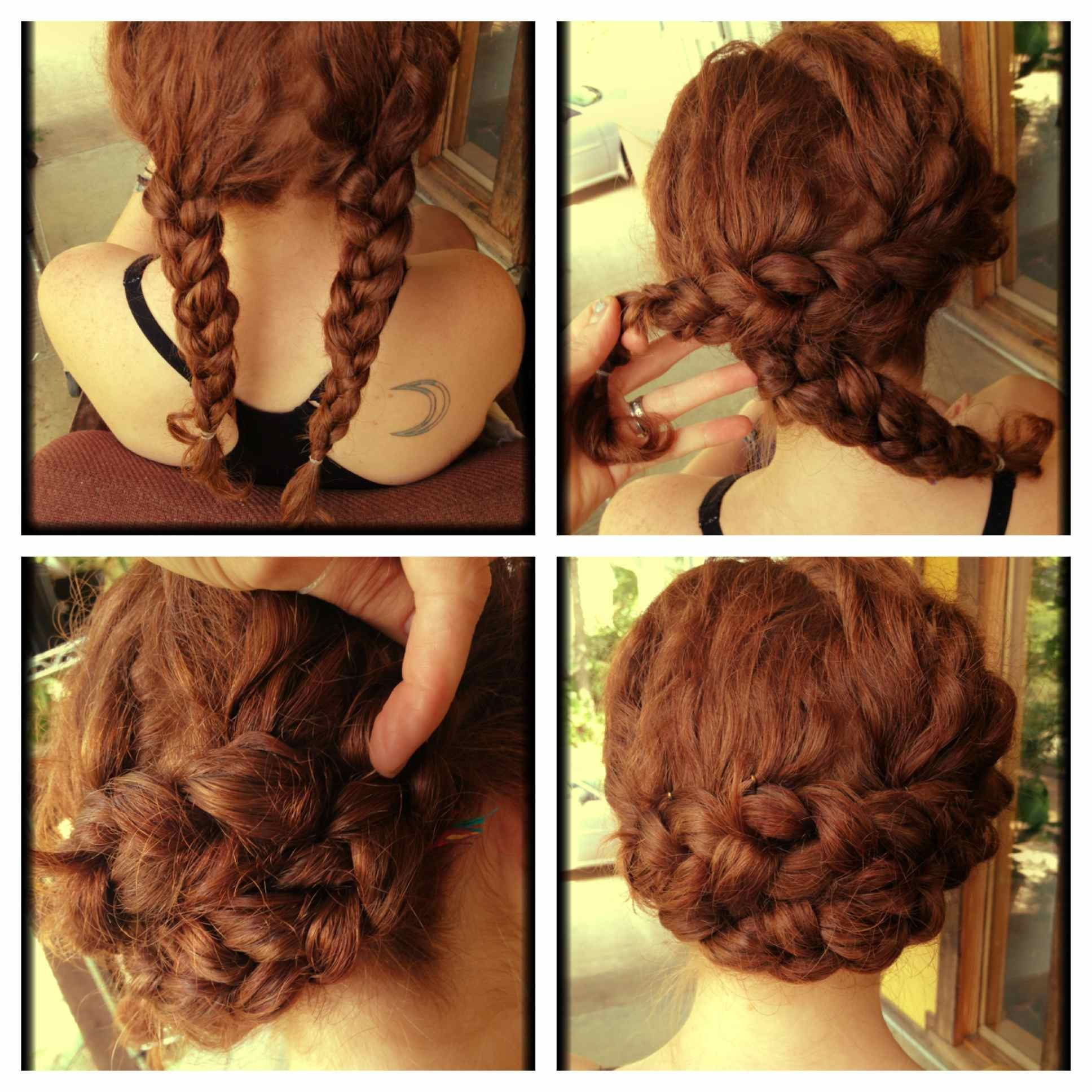 Roxiejanehunt 4 Lovely Up Dos For Curly Hair Curly Hair Styles Thick Hair Styles Curly Hair Updo