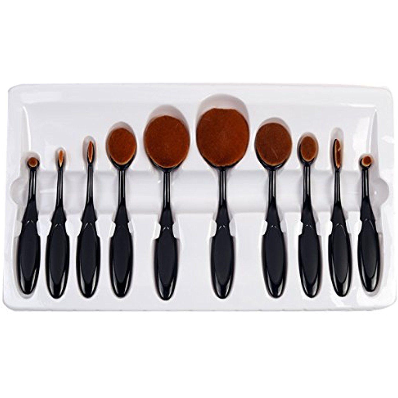 3rb – Multipurpose Oval Makeup Brush Set – (10 Piece