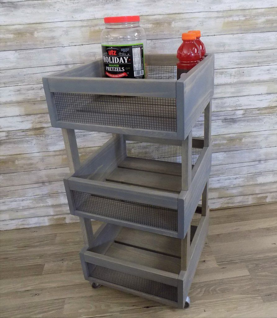 Kitchen crate cart vegetable bin produce potato box in