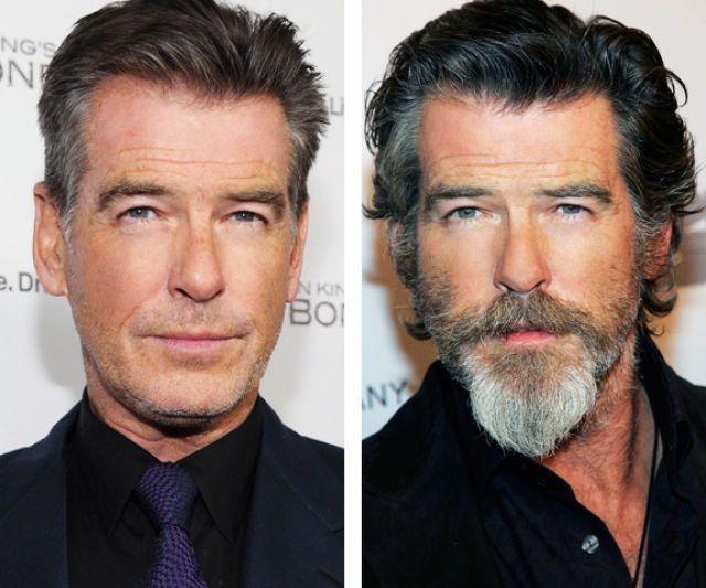 Pierce Brosnan A Beard Makes You Look Different Growing Facial Hair Goatee Styles Beard