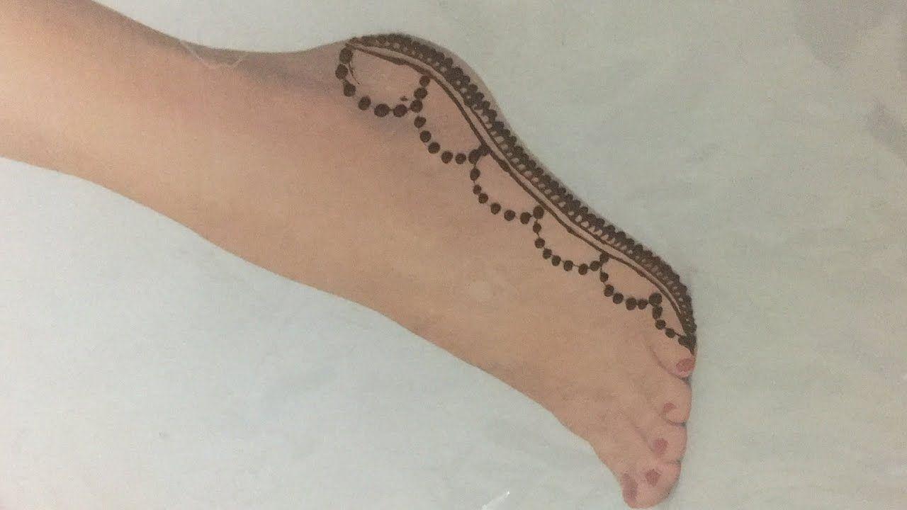 Simple Feet Mehndi Designs With Earbuds Feet Henna Designs म ह द ड ज इन प र क Youtube Mehndi Designs Henna Mehndi