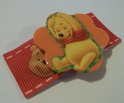 Winnie The Pooh Embellished Hair Clips by JENSTARDESIGNS on Etsy, $5.00