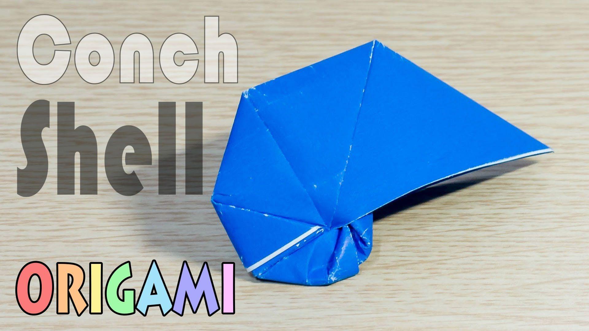 Origami TurbanShell : Paper Trumpet Shell Tutorial(Conch ...