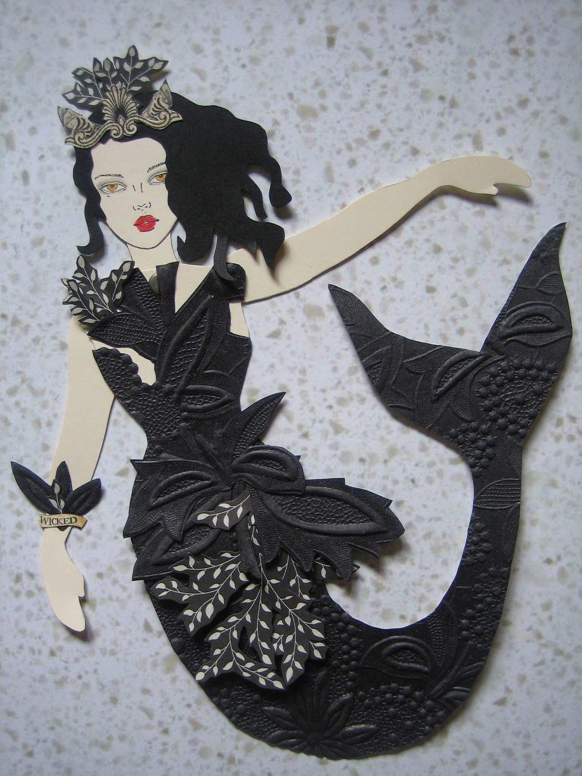 Paper doll using The Enchanted Gallery's free paper doll template and face rubber stamp available at www.theenchantedgallery.com doll art in the picture above was made by http://thedoilyduck.blogspot.com