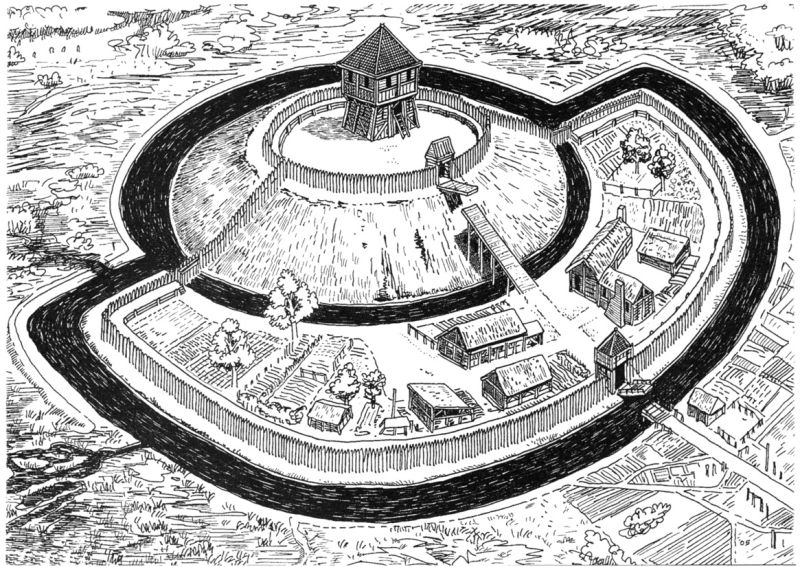 A Motte and Bailey castle existed on the site on which Caernarfon Castle now stands. This was demolished to construct the new castle in 1283. The former castle was built in the late 11th century.