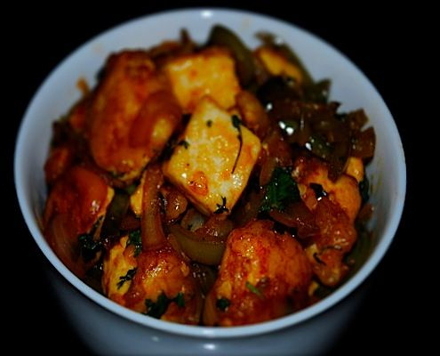 spicy chilli paneer