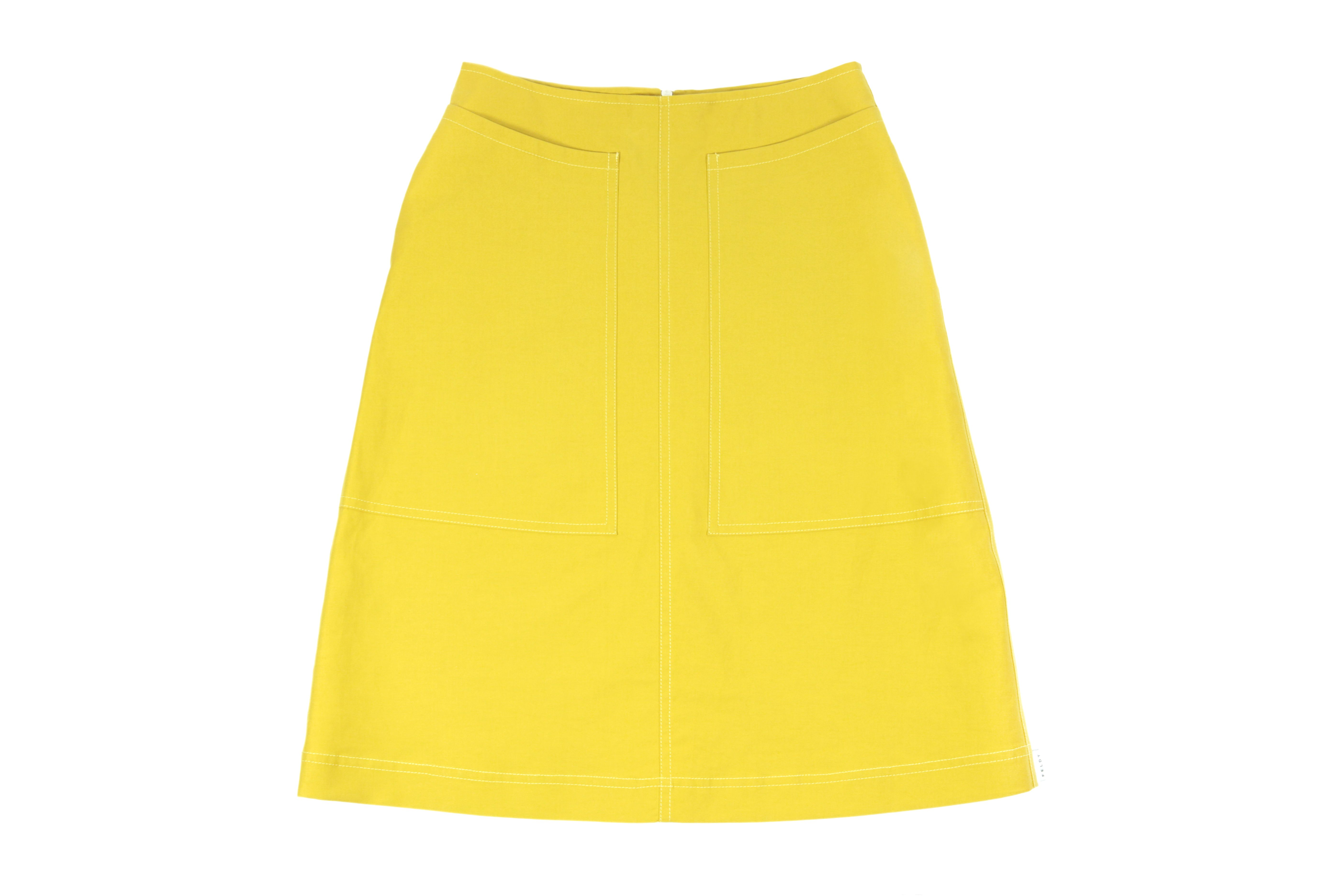 Feldt SS15 Yellow Midi Skirt