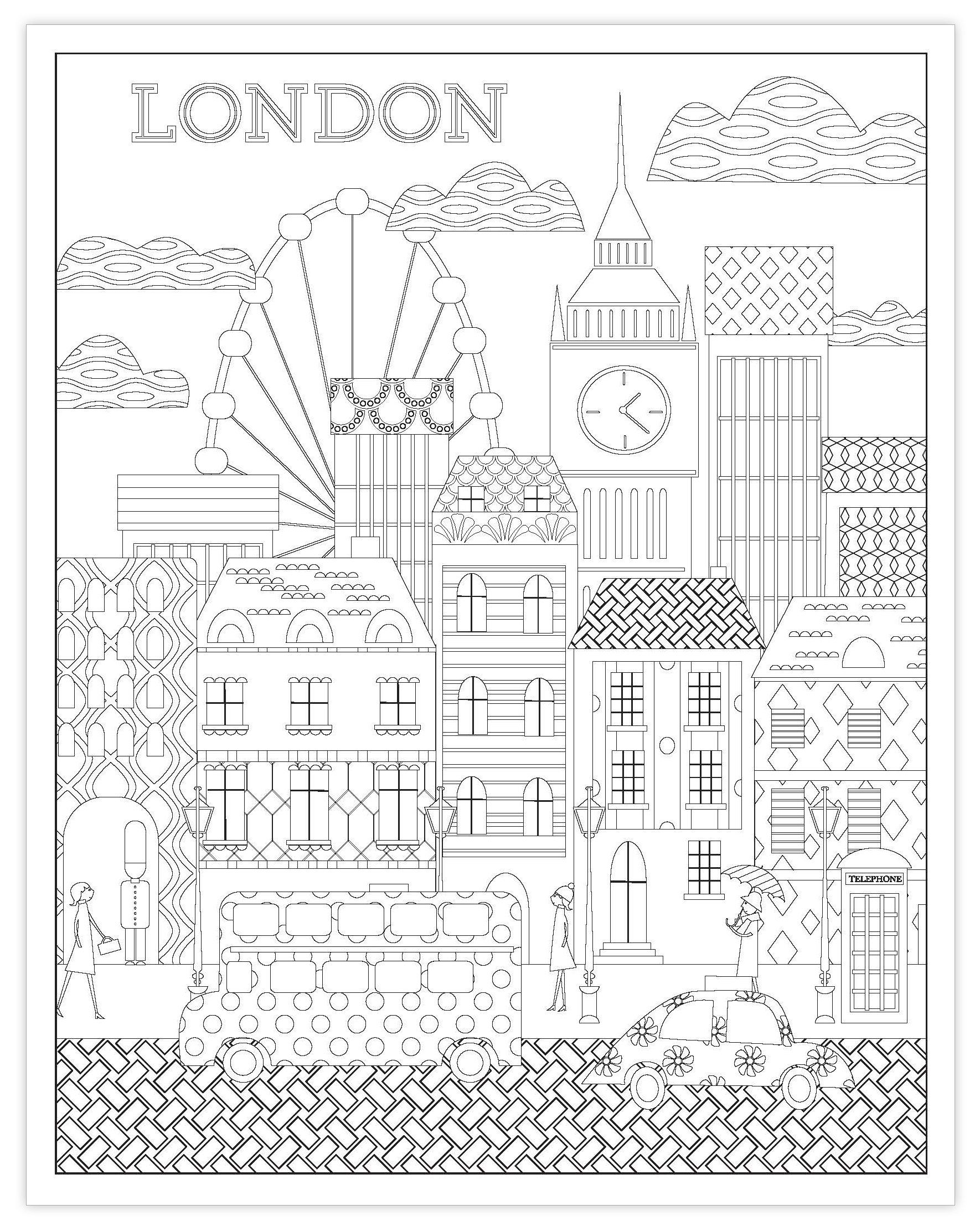 Amazon Adult Coloring Book Rand McNally Beautiful Cities 9780528016011