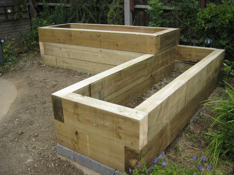 Images Of Attractive Raised Beds Google Search Raised Bed - Garden designs sleepers