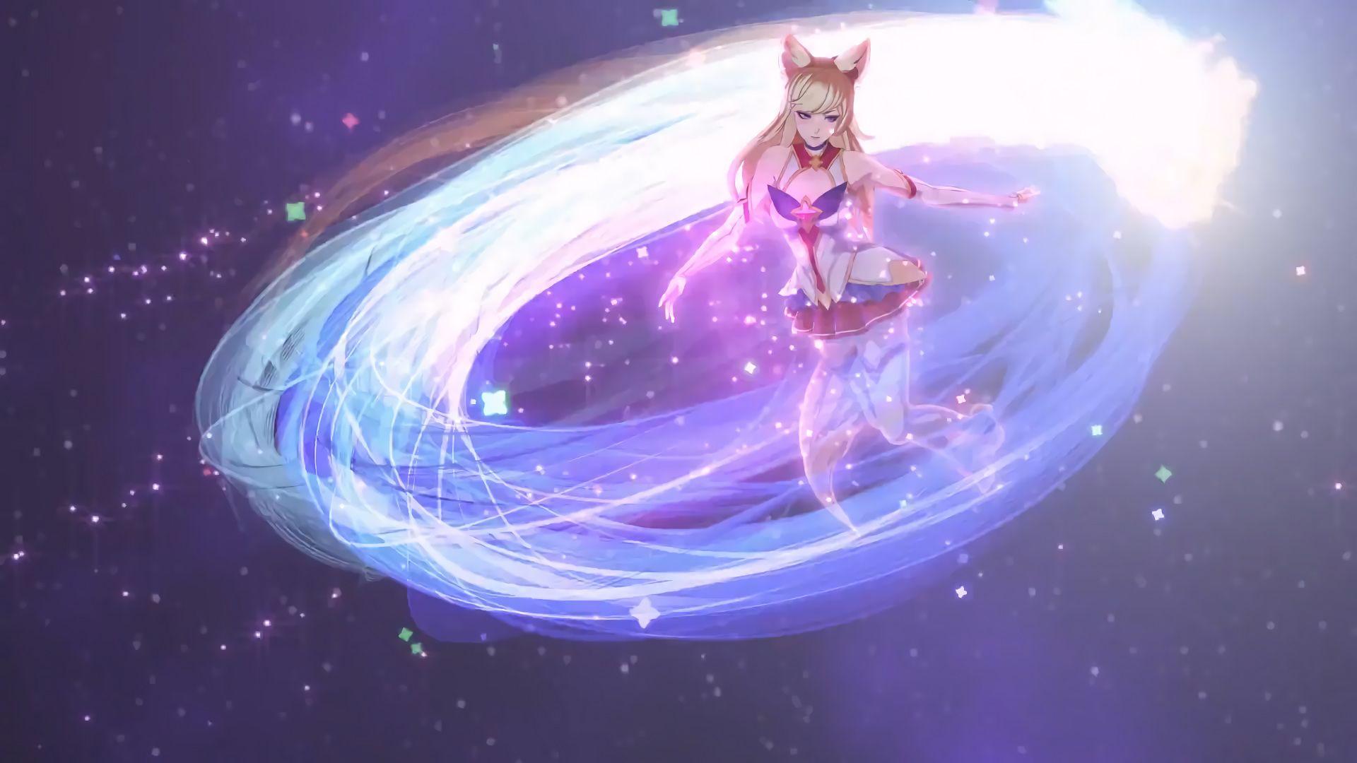 A New Horizon Star Guardian Ahri Cinematic 11 Hd Wallpaper Background Official Artwork League Of Legends Lol Gambar