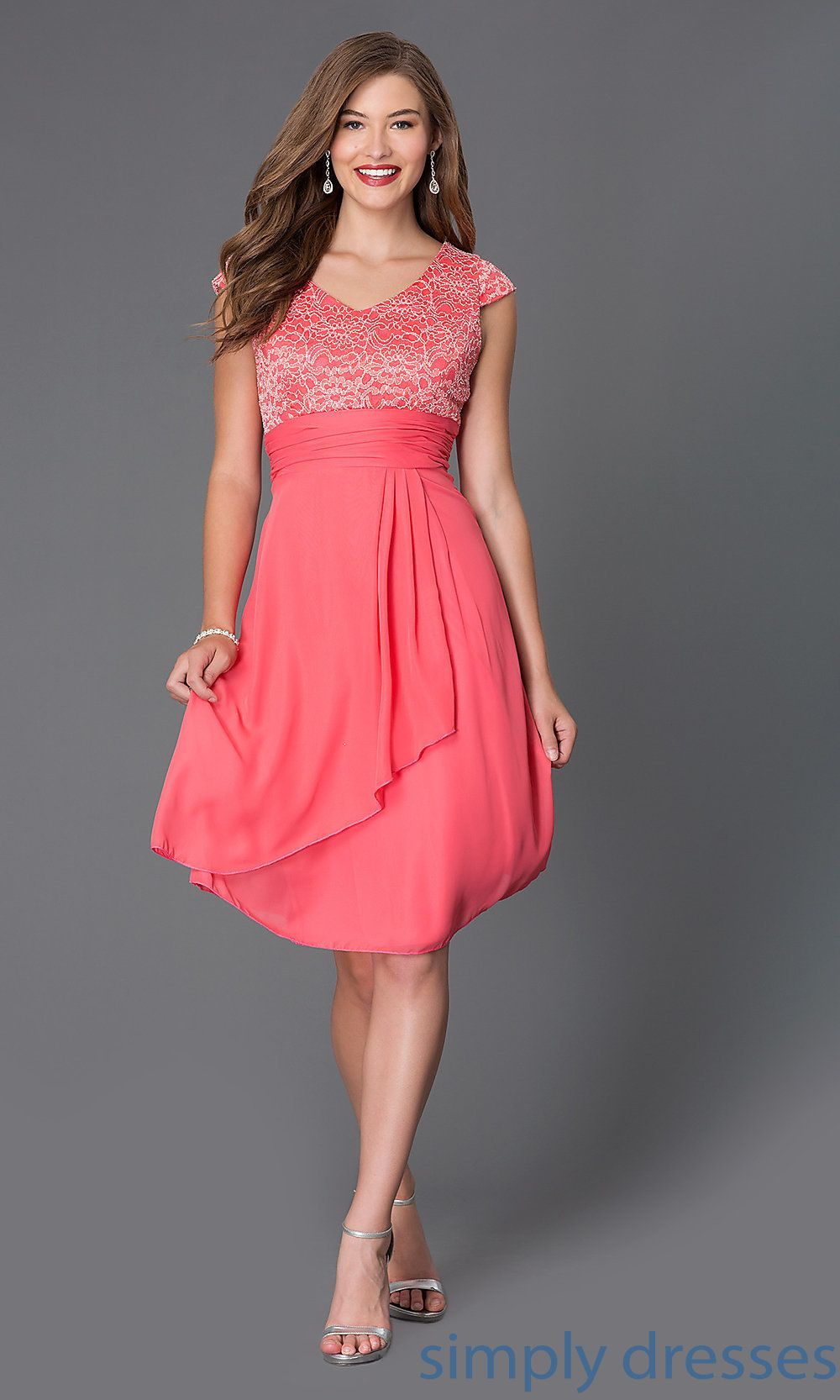 Kneelength capsleeve sally fashion dress dress pinterest