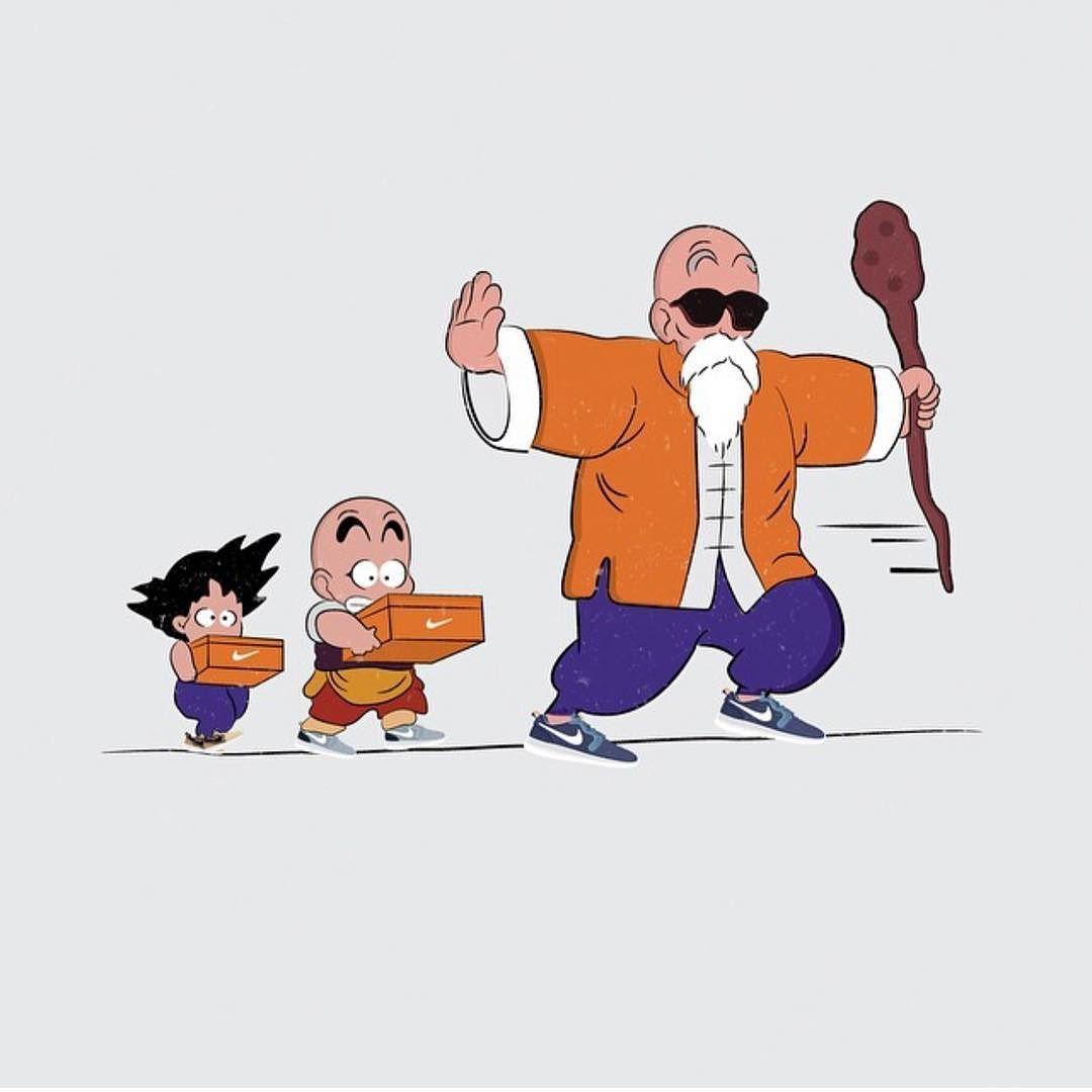 Master Roshi Kicks Dope Cartoons Drawings Dragon Ball
