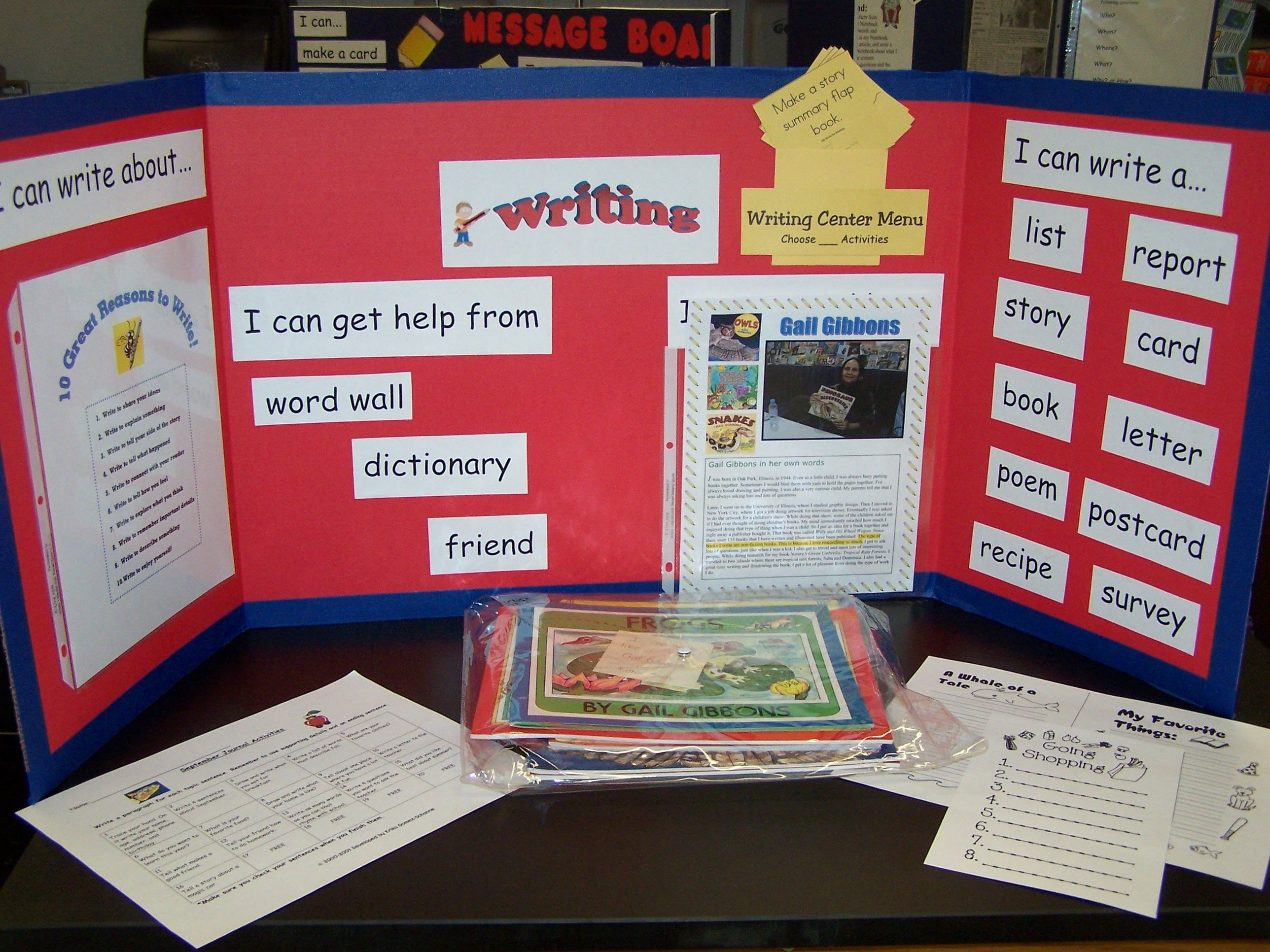 Example Of A Writing Station