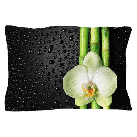 Bamboo Orchid Pillow Case on CafePress.com