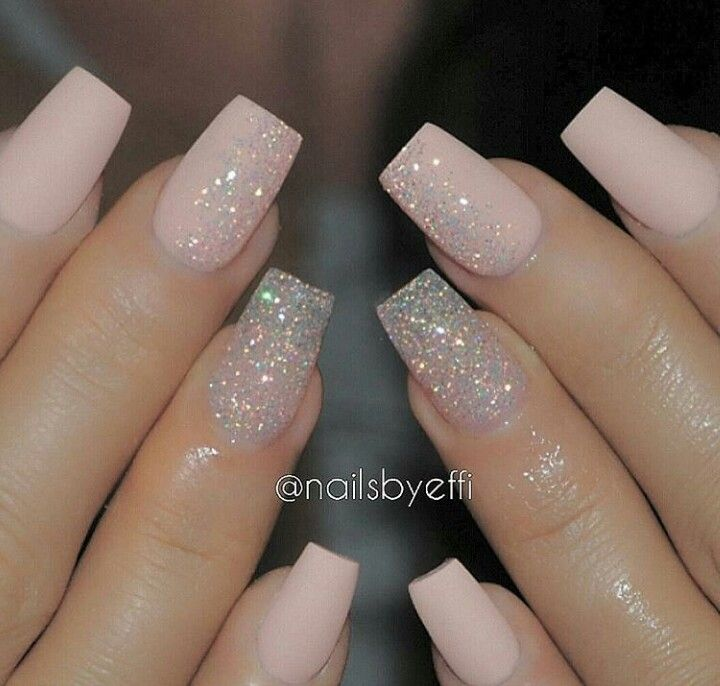 Sparkle More Pale Pink Nails