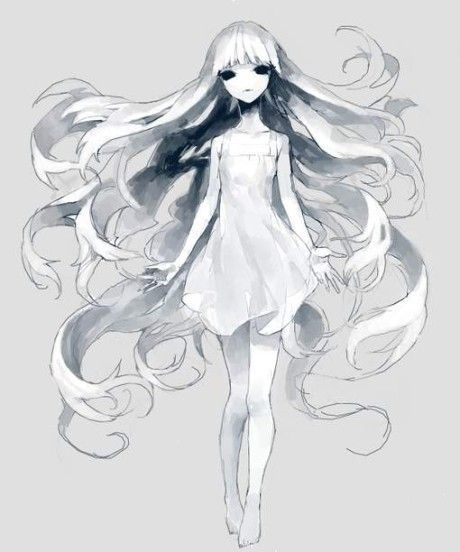 White Girl Anime Ghost Ghost Drawing Anime