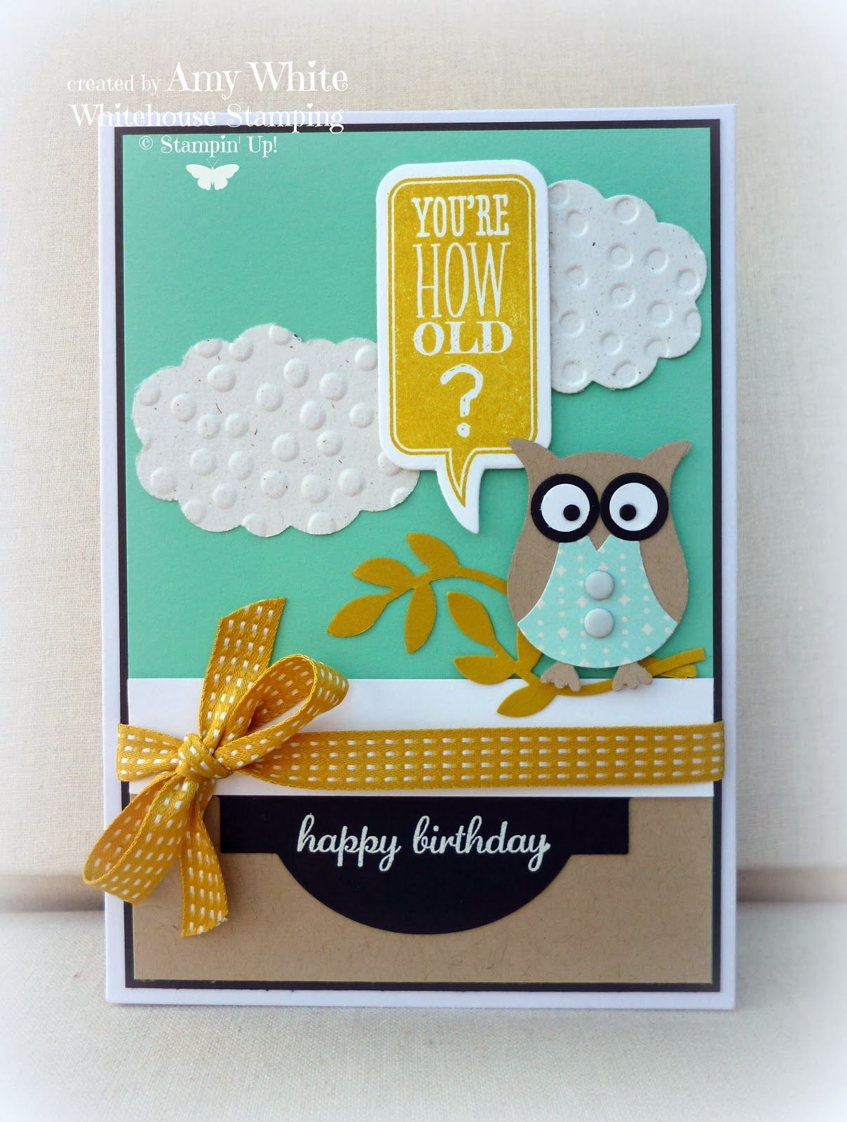 White House Stamping Owls Birthday Greetings Stampin Up – White House Birthday Greetings