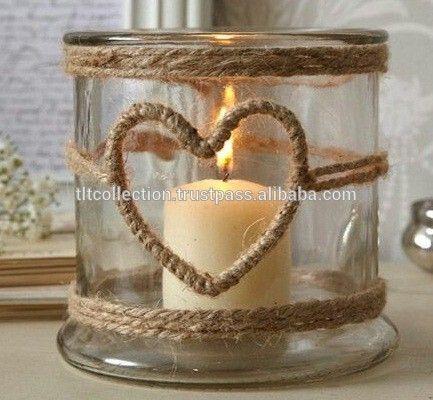 Mason jar lanterne, supporto di candela di vetro, uragano supporto di candela/matrimonio arredamento/home decor/corda lanterna
