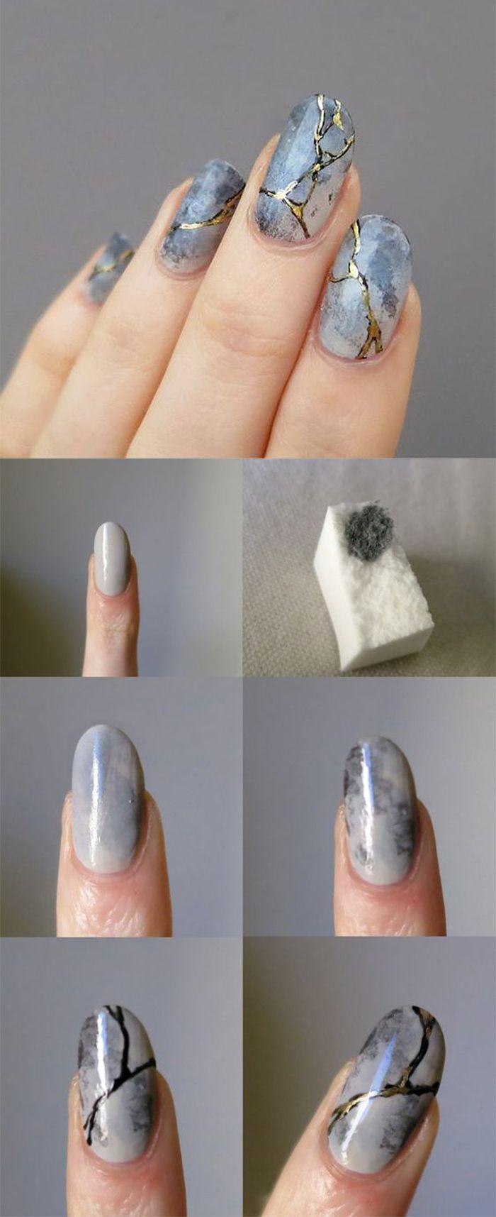 Mramorová manikúra s gelovým lakem (60 fotografií). Jak to udělat?  🚩