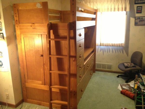 Dear Santa Very Nice Wooden Loft Bed With Desk And Secret