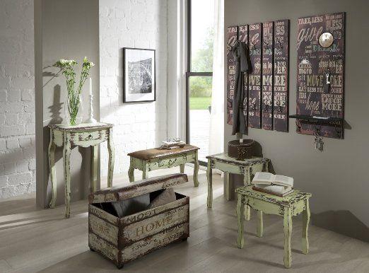 haku m bel 89918 wandgarderobe 70 x 9 x 100 cm vintage k che haushalt garderobe. Black Bedroom Furniture Sets. Home Design Ideas