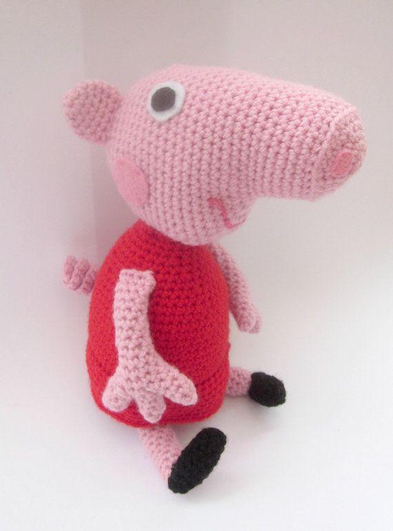 Pig Crochet Pattern American Crochet Instant Download Crochet
