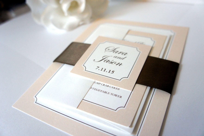 Brown Wedding Invitation - DEPOSIT | Brown wedding invitations ...