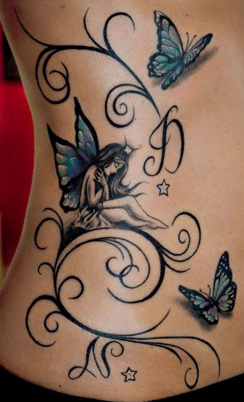 Fairy And Butterflies Tattoos Pixie Tattoo
